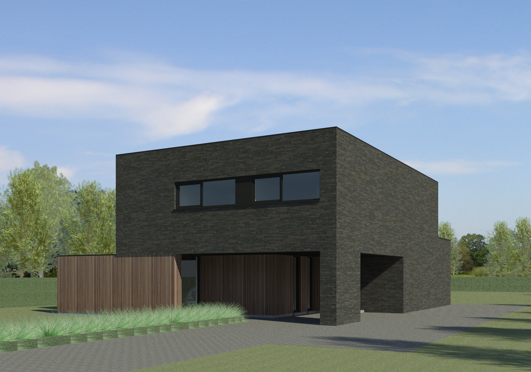 Ob moderne nieuwbouw bouwinfo - Terras eigentijds huis ...